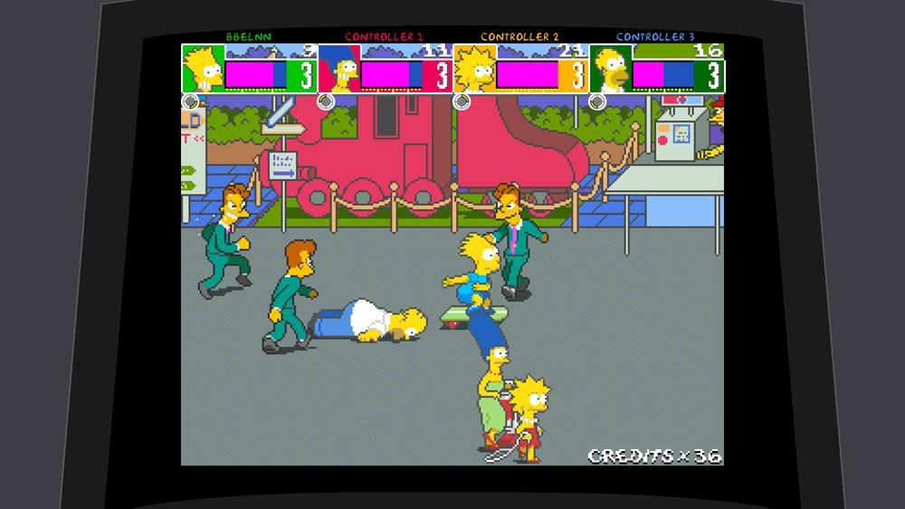 the simpsons arcade game jeu playstation 3 images