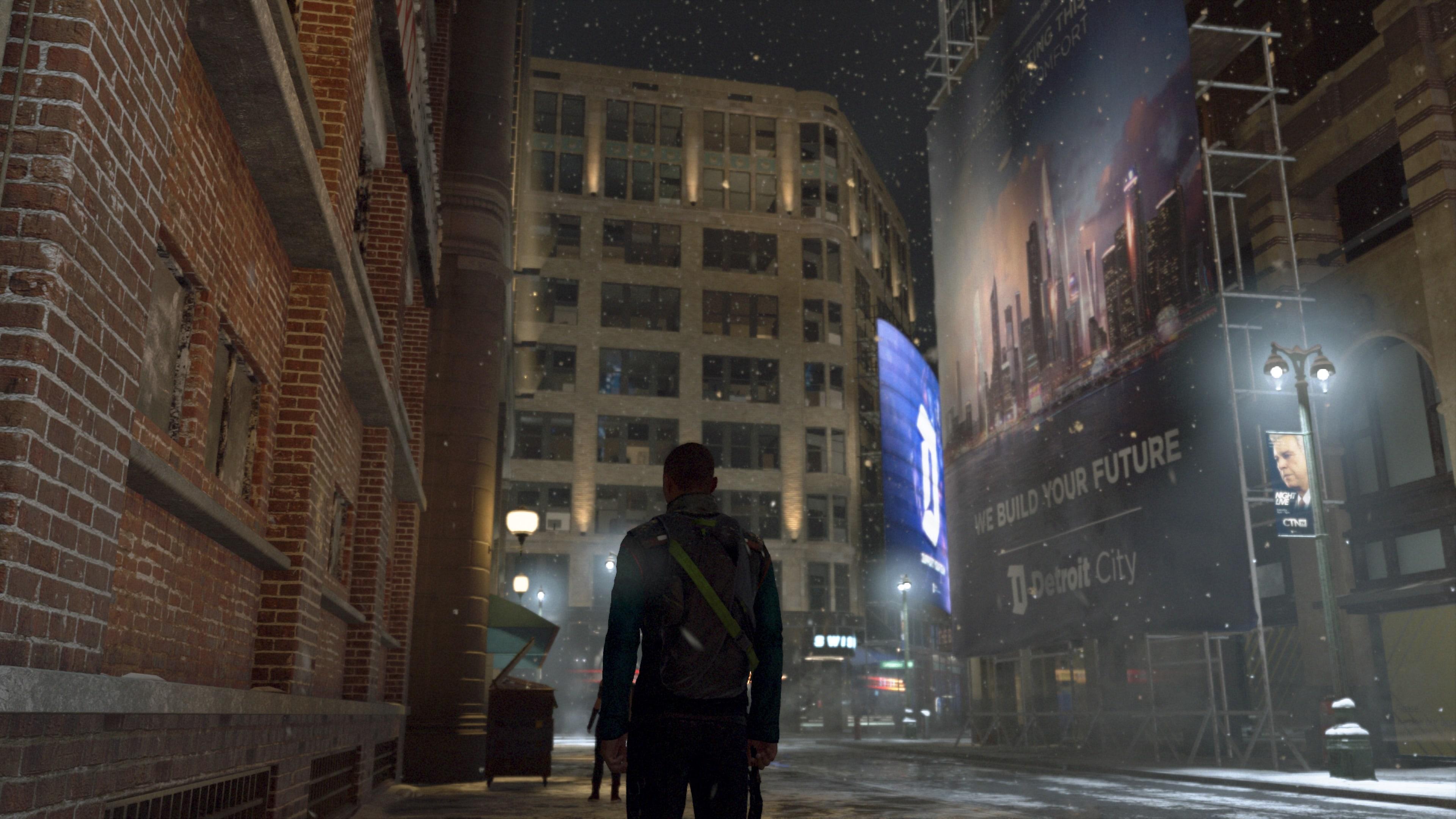 Test Detroit PS4 - Markus Rue de Détroit Neige