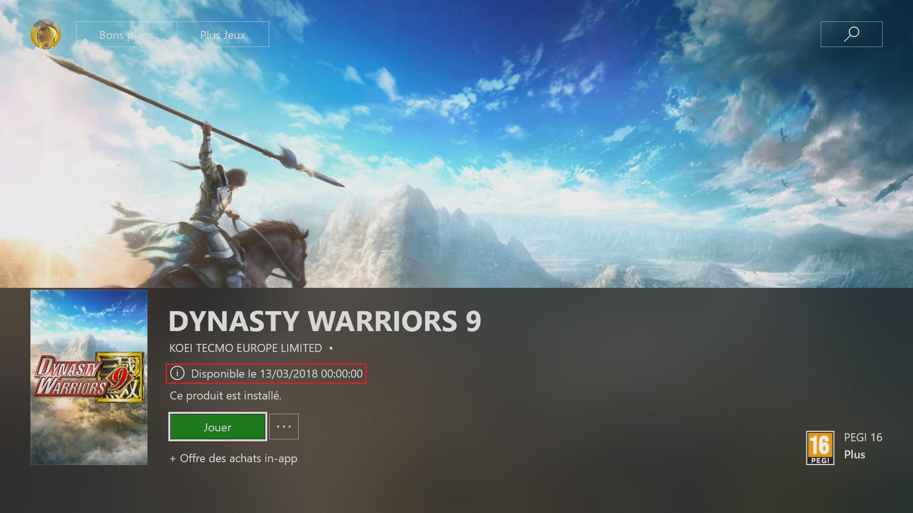 Date de sortie de Dynasty Warriors 8 : Empire sur PS4