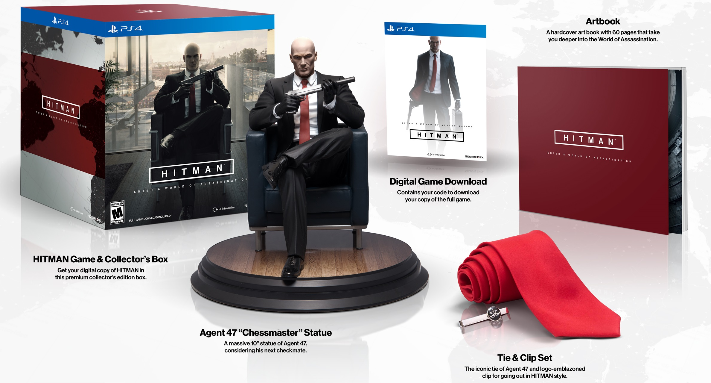 hitman sortie pisodique et version collector se d voilent sur pc ps4 et xbox one. Black Bedroom Furniture Sets. Home Design Ideas