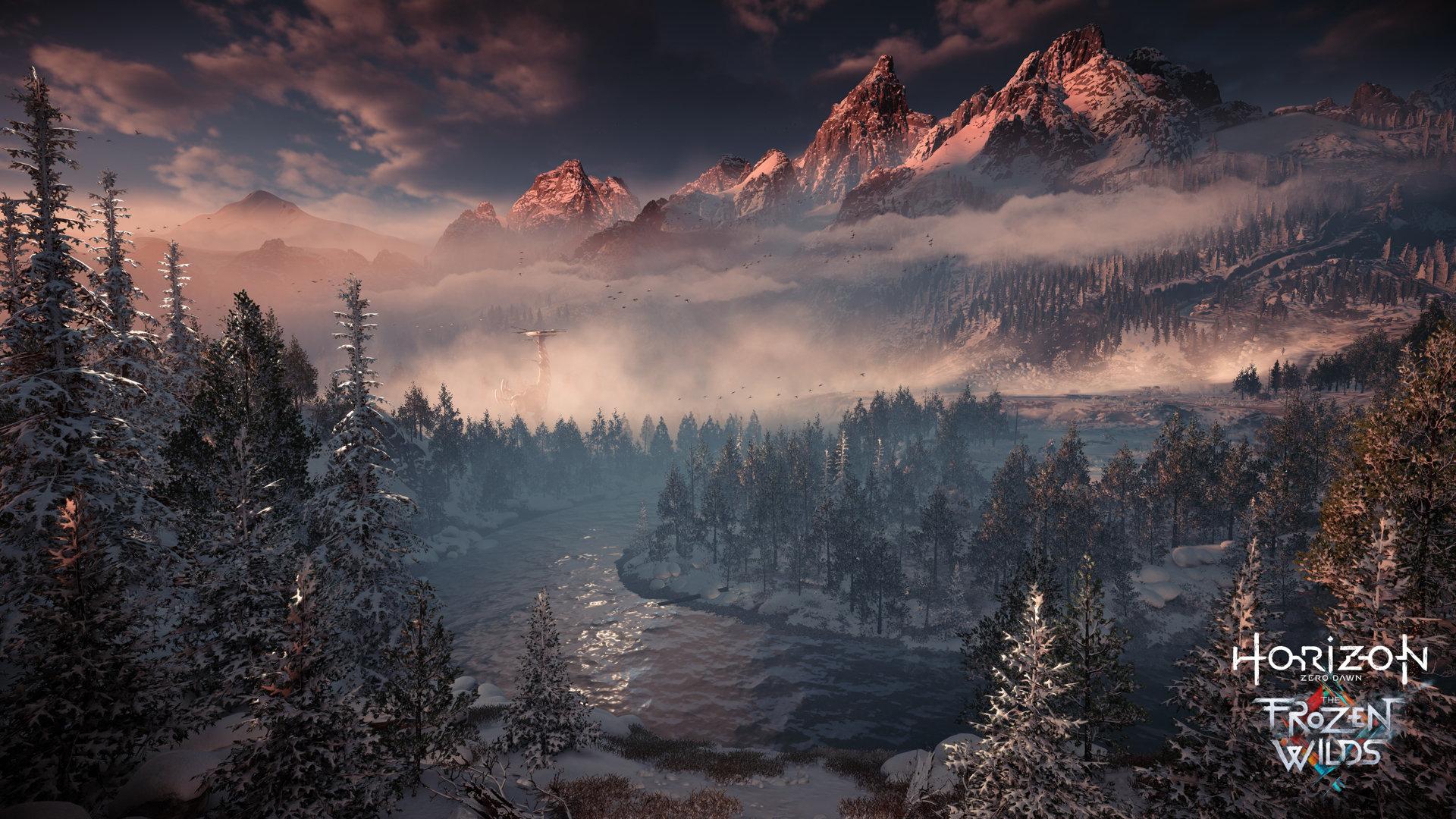 Horizon Zero Dawn The Frozen Wild Forêt PS4