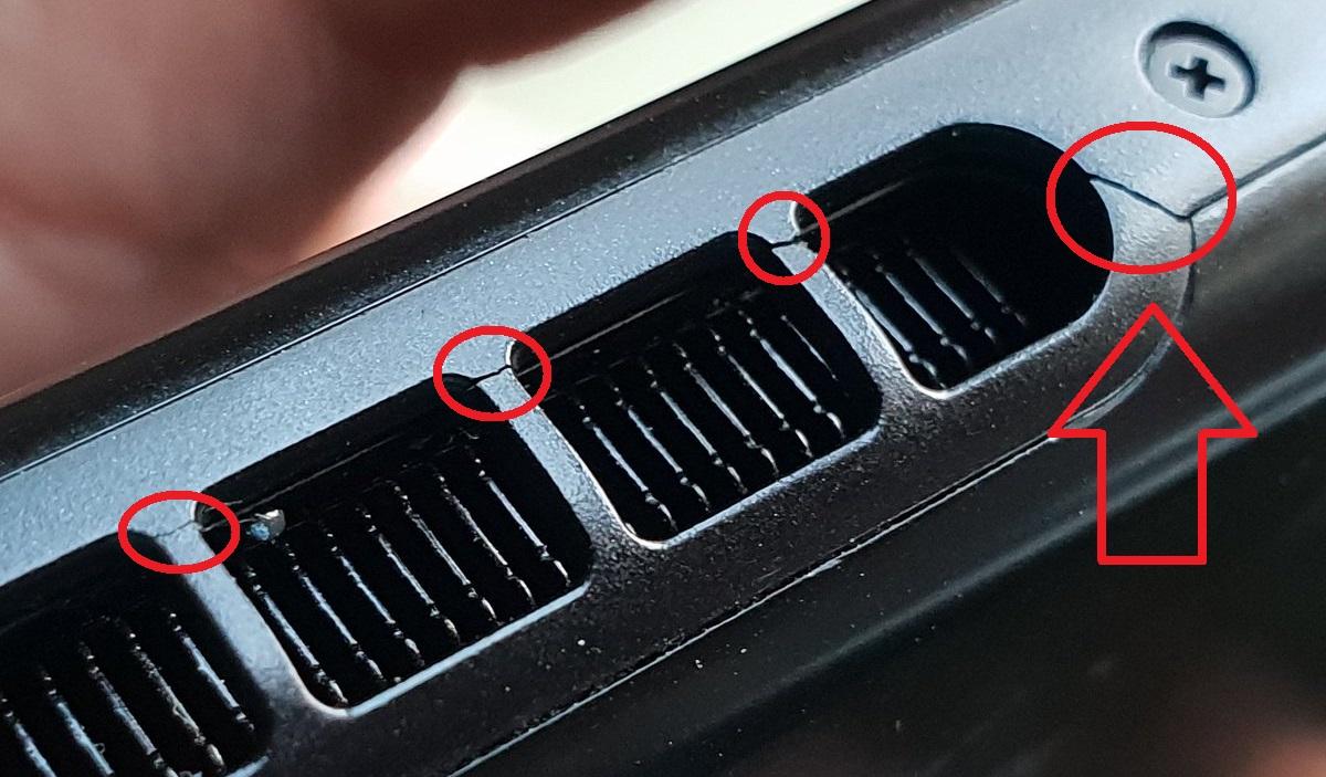 Nintendo Switch Plastique Craque Fêle Aération Ventilation