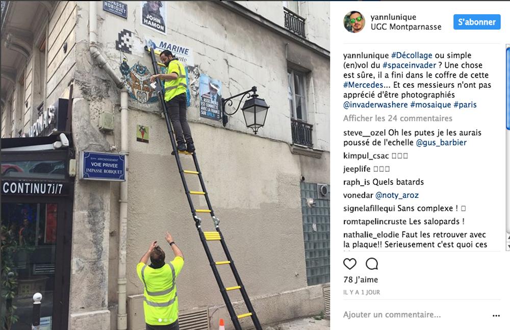 Voleurs pixels Paris invaders