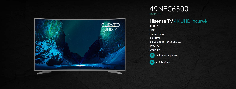 hisense h49nec6500 une tv 4k hdr parfaite pour jouer la xbox one x et la ps4 pro moins. Black Bedroom Furniture Sets. Home Design Ideas