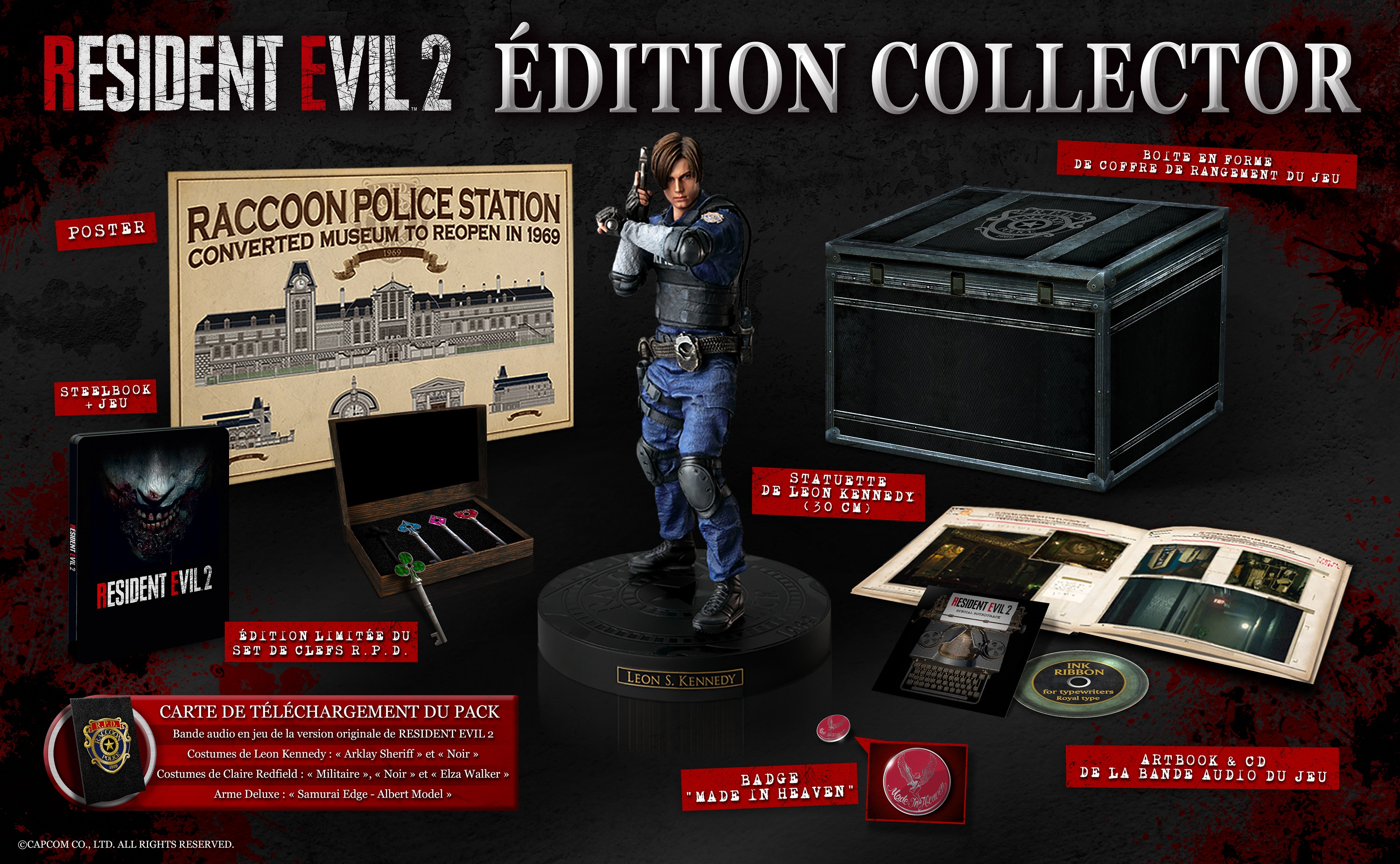 Edition Collector Resident Evil 2 Remake Europe