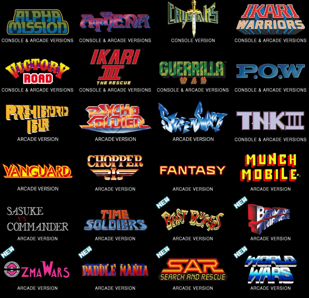 Liste des jeux SNK 40th Anniversary Collection