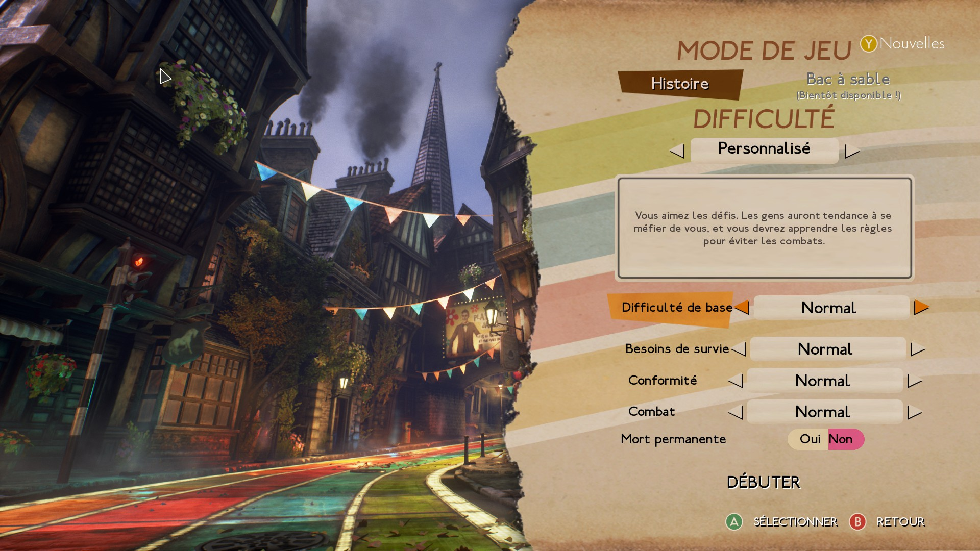 Test We Happy Few Menu